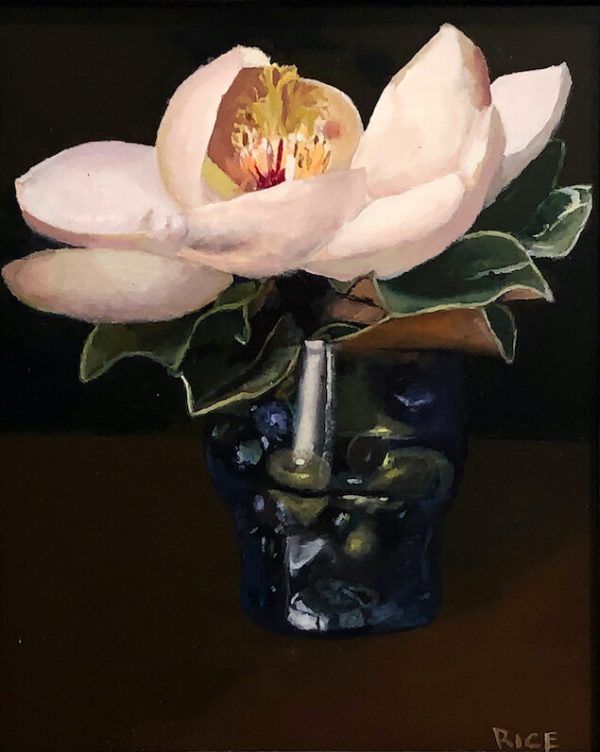Magnolia, Vase, and Glass Beads